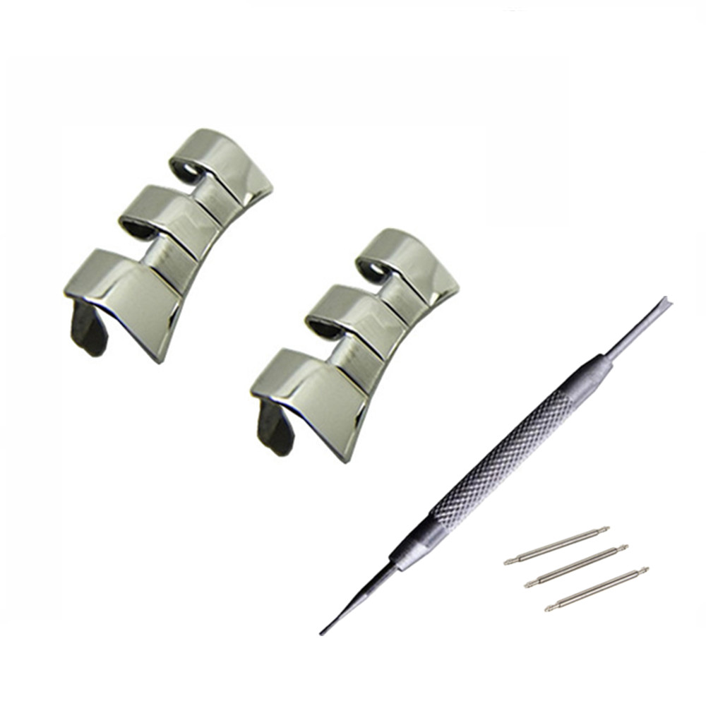 19mm 1 Pair <font><b>Watch</b></font> Accessories For <font><b>PRC200</b></font> T17 T461 T014 HQ Stainless Steel <font><b>Watch</b></font> Band Strap Head Head Ear Hom image
