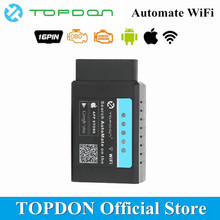 TOPDON автоматизировать Wi-Fi OBD2 сканер полный функции ELM327 V1.5 pic18f25k80 читать и четкий DTC автомобиля диагностический инструмент OBDII код читателя