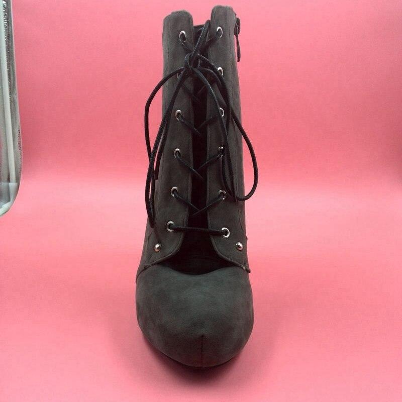 Gamuza Zapatos Verde Tobillo Plataforma Las Defilè Mujer Señoras De Botas Invierno Alto Militar Tacón Moda Cuadrados Para La Punta ntvqnwTY