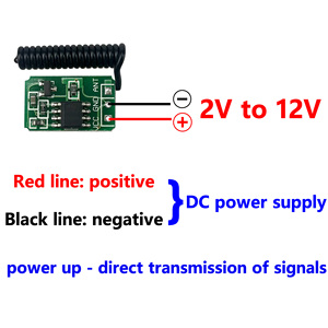 Image 2 - وحدة إرسال صغيرة وجهاز التحكم عن بعد RF 433 MHz صغيرة صغيرة الحجم 3.7 فولت 4.5 فولت 6 فولت 9 فولت 12 فولت ملحقات مفتاح طاقة لاسلكي للبطارية