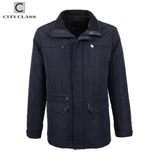 City Class New Autumn Quilted Men's Jackets Mid Long Coats Top Model 2018 Classic Business Casual Overcoat Brand Clothing 14422
