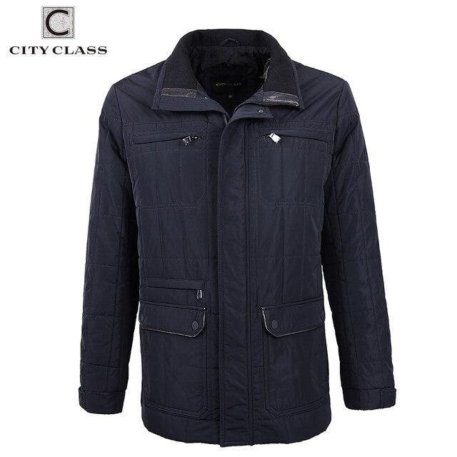 City Class новый осень ватные Стёганные куртки Для Мужчина Куртки синтепон удлинные пальто, можно под костюм одевать, много карманов, топ-модель 2018 классические Бизнес Повседневные Куртки брендовая одежда 14422
