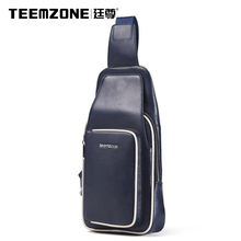 Teemzone Genuine Leather Men's Shoulder Bags Brand Men Travel Casual Designer Messenger Bag Crossbody Bag Free Shipping
