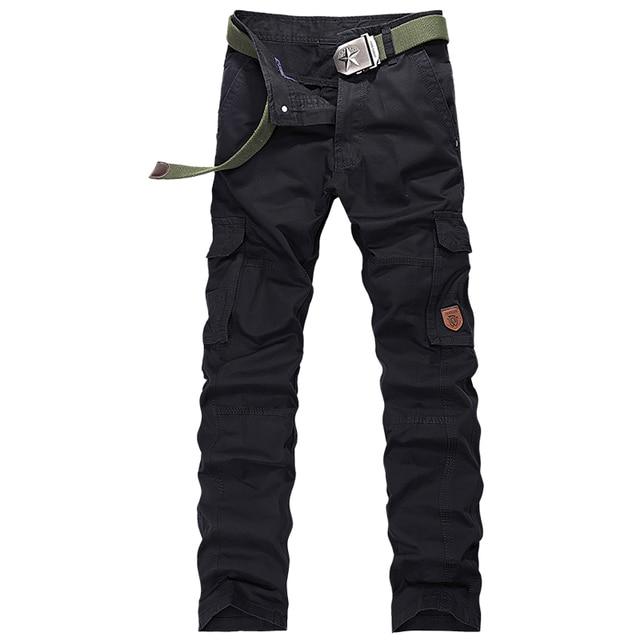 2017 Spring New Loose Cotton Pantalones Militares Para Los Hombres Good Quality Classical Pantalon Cargo Homme