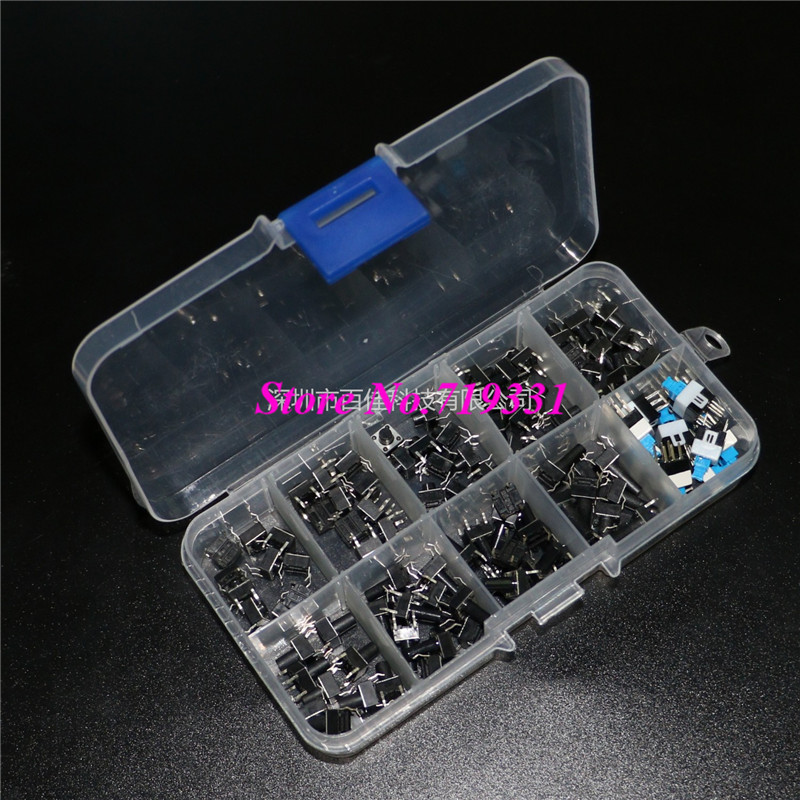 100pcs 10 kinds/box Push button switch Touch button switch button 6 6 3 1mm smd5 black push button switch 6x6x3 1 touch micro switch 100pcs