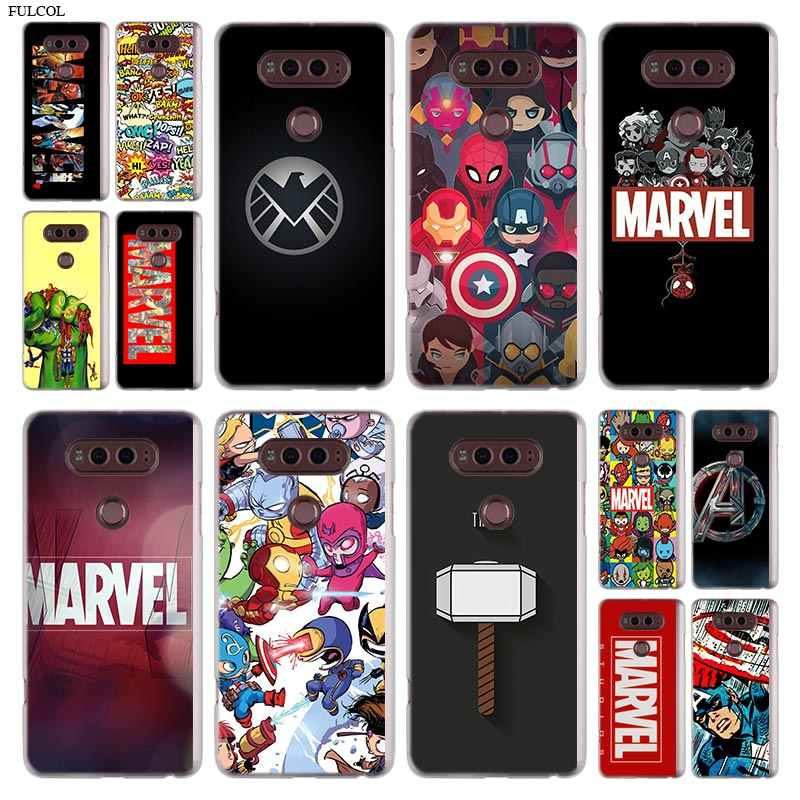 Marvel untuk LG Q6 Yang G7 G6 G5 G4 G3 V30 V20 K8 K8 K10 2018 K10 K8 stylus 2017 Stylo 3 M700 Cover