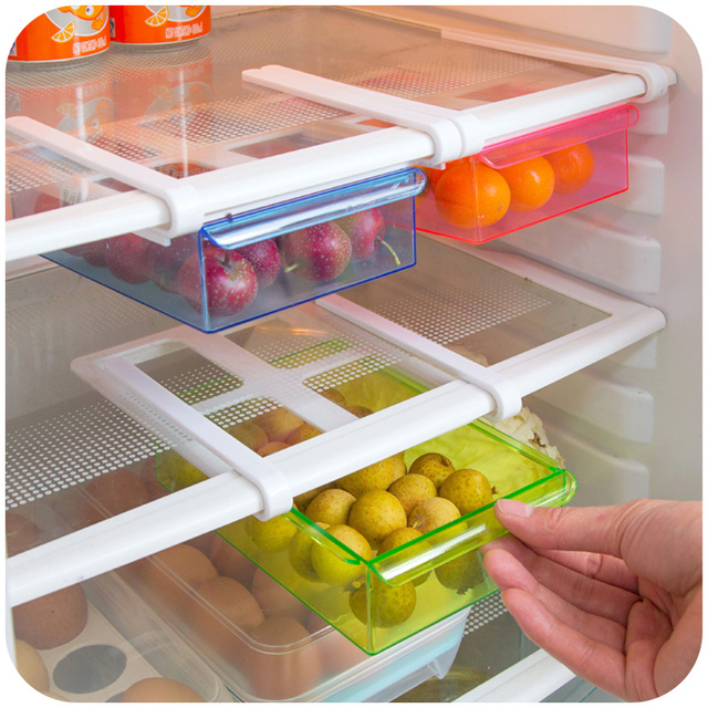 Multifunction plastic refrigerator organizer kitchen folding plastic multifunction plastic refrigerator organizer kitchen folding plastic storage rack clear color large capacity drawer organizer workwithnaturefo