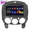 5.1.1 Pantalla capacitiva Quad Core Android Coches Reproductor de DVD para MAZDA 2/para Mazda2 Jinxiang/DE/Tercera generación 2007-GPS Navi