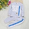 DTZ293 розничная детская одежда набор мальчиков девочек спортивный костюм дети бренд костюмы 2 шт.. с длинным рукавом + брюки бесплатная доставка