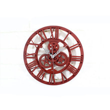 New Vintage 3D Wall Clock Modern Style Super Mute Retro Large Watch For Home Decoration  Antique Gear Clocks Drop Shipping