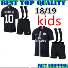 2018 2019 criança MENINO crianças kit kit psg Paris camisas de futebol  neymar jr 18 19 crianças psg camisas de futebol da liga d. 8cdb241dfa4b5