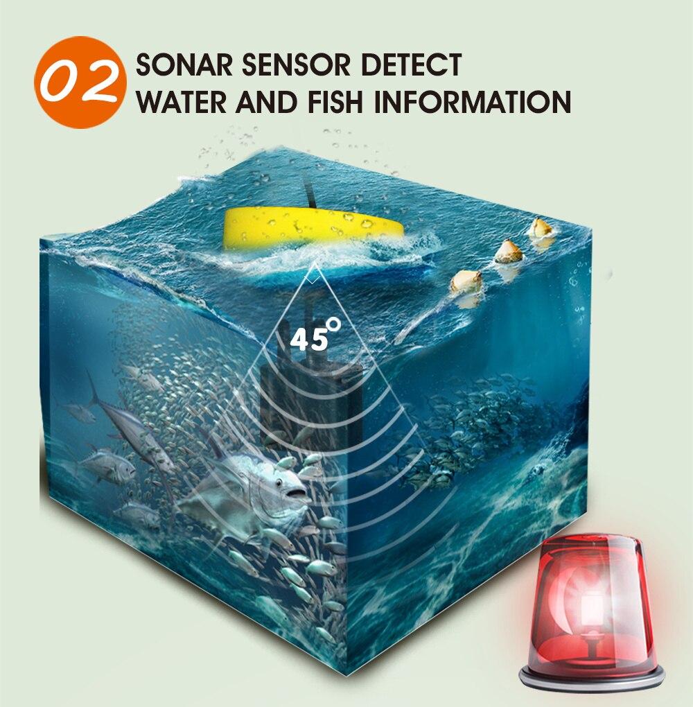 Sorte portátil inventor de peixes sonar alarme