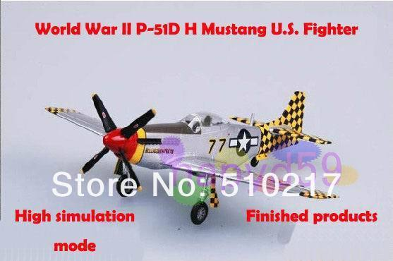 5pcs free ship new 1/72 finished world war II piston propeller fighter model military aircraft model P-51D Mustang U.S. fighter
