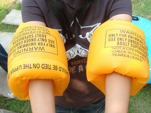 CN free shipping, Arm ring jules et jim theglabellum swim ring double balloon adult child general a pair