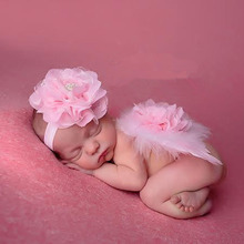 White Newborn Wings and Headband Baby Feather Wings Newborn Angel Wings Newborn Photography Photo Prop HB256