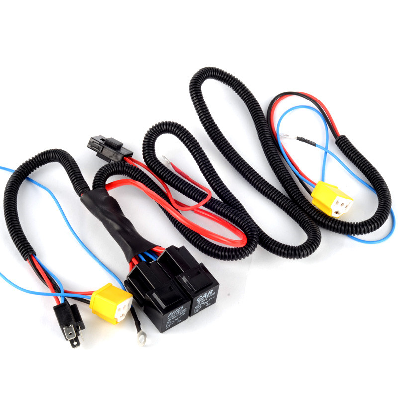 online buy whole headlight wiring harness from headlight h4 headlight wire harness connector fuse socket energy saving high quality mainland