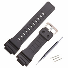 Watch Accessories Band Strap18mm for Cas Resin Black Strap AQ-S810W/AEQ-110W/W-735H Mens Outdoor Sport Waterproof Wacthband