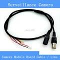 Высокое качество простой видеонаблюдения ахд / CCD камера модуль совета кабель / линия, Аналоговый HD видео + питание порт