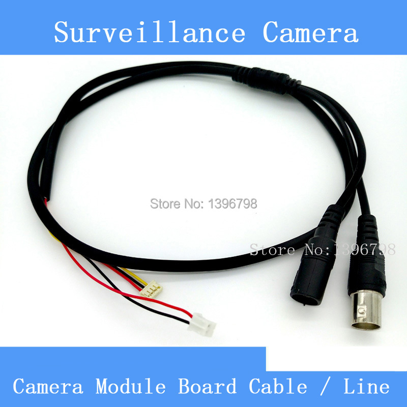High Quality Simple CCTV AHD / CCD Camera Module Board Cable / Line , Analog HD Video + Power Supply Port autoeye cctv camera power adapter dc12v 1a 2a 3a 5a ahd camera power supply eu us uk au plug