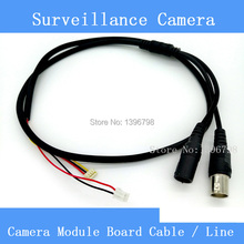 High Quality Simple CCTV AHD / CCD Camera Module Board Cable / Line , Analog HD Video + Power Supply Port