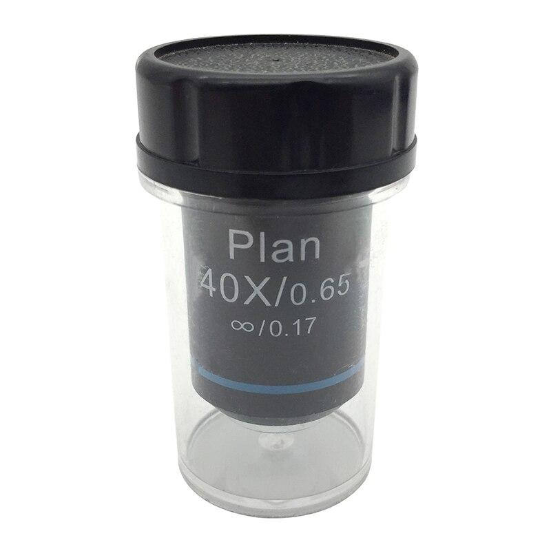 40X Achromatique Plan Infini Infini Objectif pour Olympus UIS2 Microscope Biologique DIN 45mm RMS De Montage 0.65 Printemps