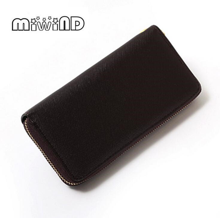 Women Wallets PU Leather Wallet Female Purse Long Coin Purses Holders Ladies Wallet Hasp Fashion Womens Wallets And Men Purses ascalini r4198