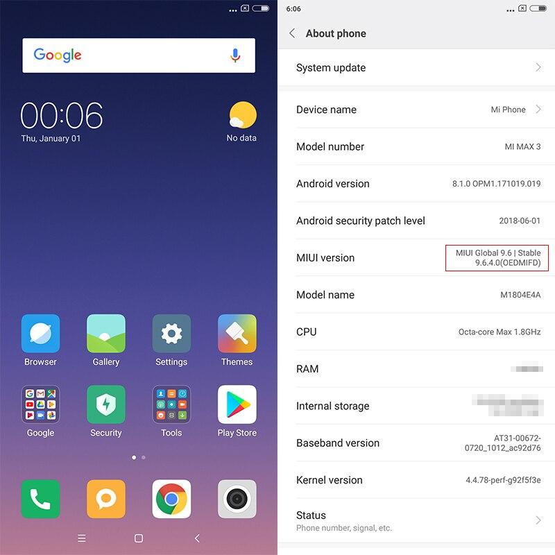 Globale ROM Xiao mi mi Max 3 4GB 64GB 6,9 Full Screen Snapdragon 636 Octa Core 5500mAh QC 3,0 12MP + 5MP Dual Kamera Smartphone - 4