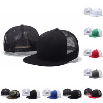 Snapback ajustable gorra de béisbol del camionero hombres Unisex malla  visera sombrero plano Reino Unido 212c4fa7214