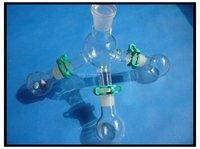 Лабораторный короткопроходной дистилляционный приемник с тремя 50 мл фляги, лабораторная посуда