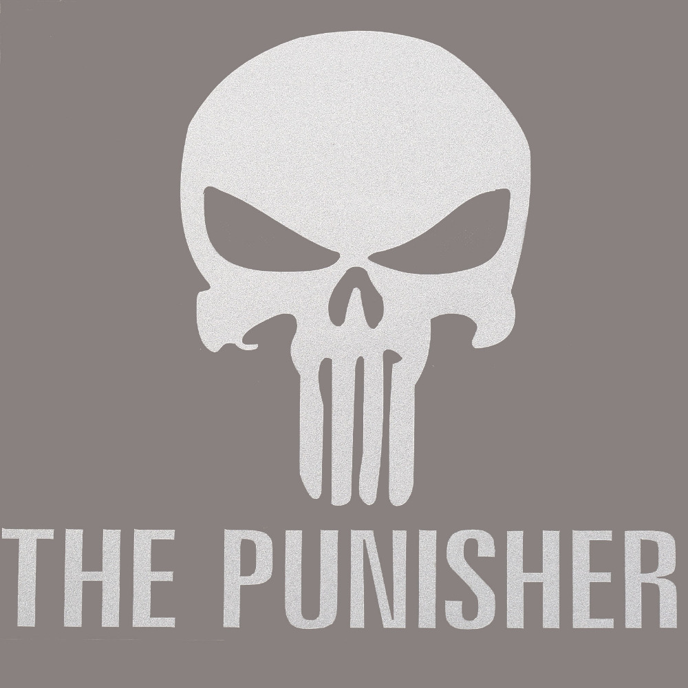 Aliexpress com buy 1pc car sticker ghost rider the punisher skull car styling decals for car stickers body comic steering wheels motorcycle on cars from