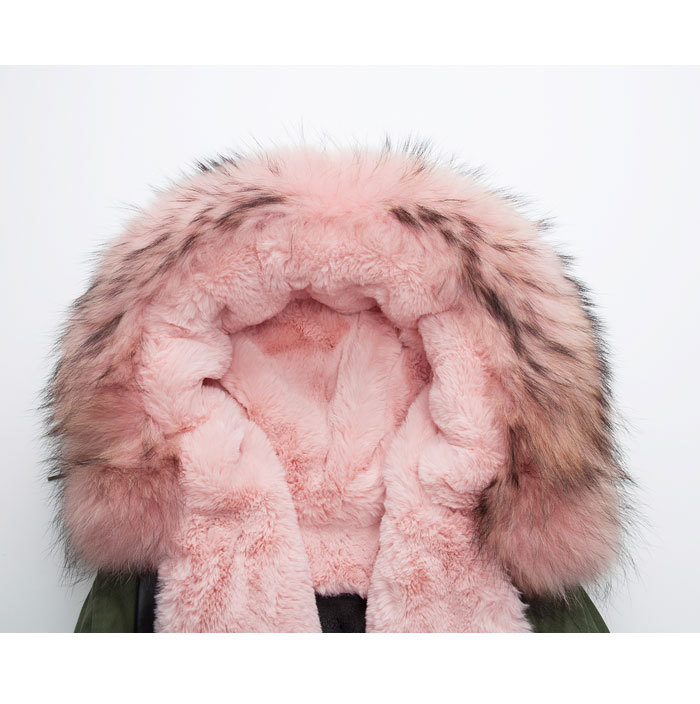 d6dbaea84f8 Aliexpress.com : Buy High quality 2017 new design male long style pink fur  jacket parka coats jackets women /ladies outwear winter fur coats from  Reliable ...