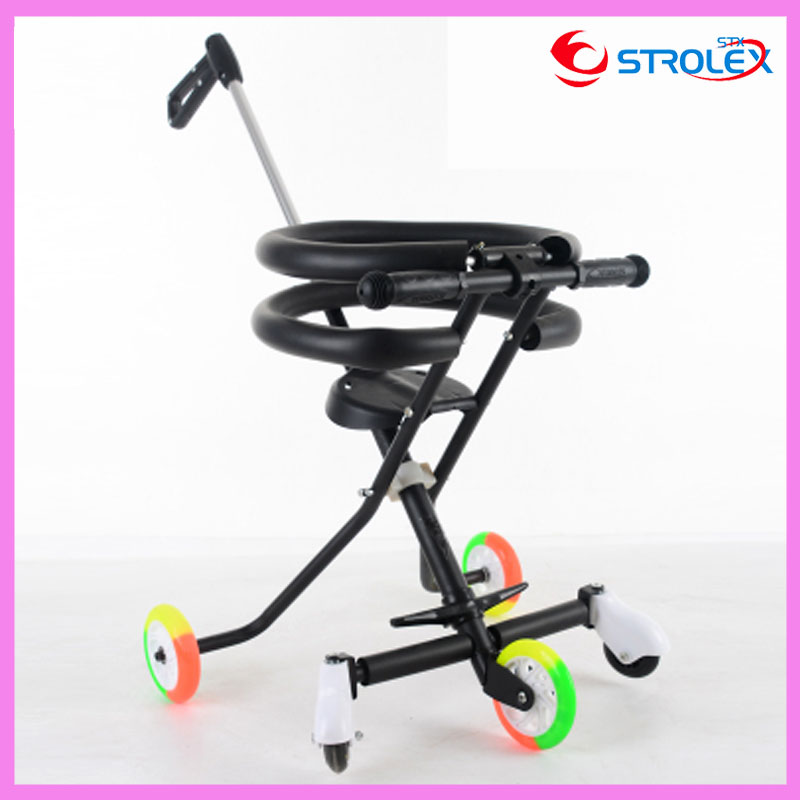 Quality Portable Folding Baby Tricycle Bike Travel Trolley Sunshade Umbrella Tricycle Stroller Lightweight 3 In 1 Pram Pushchair travel system airplane folding baby stroller umbrella high landscape pushchair buggy trolley pram portable shoulder bag suitcase