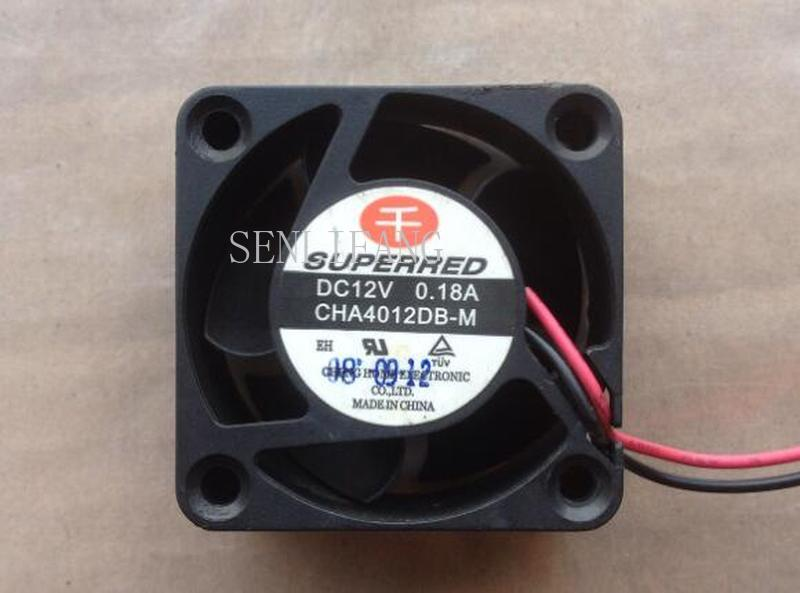 NEW CHA4012DB-M DC 12V 0.18A 4cm 4020 40*40*20mm 2 Wires Cooling Fan