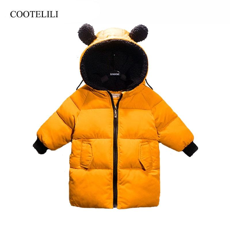 Зимние куртки COOTELILI для девочек и мальчиков, зимние комбинезоны для девочек, теплое пальто, одежда для маленьких мальчиков, детская одежда ...