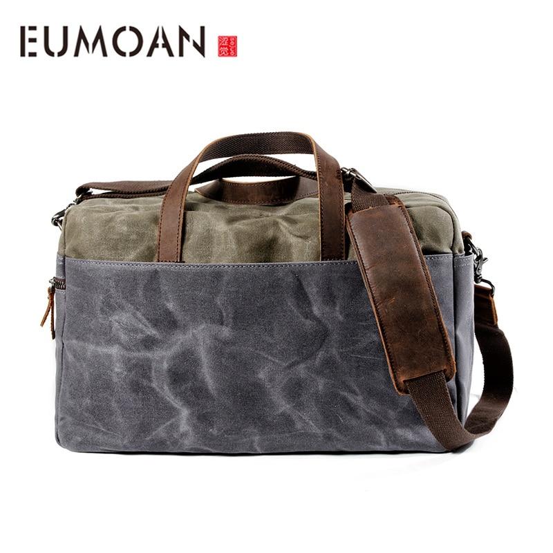 Sac de bagage EUMOAN, sac de voyage de grande capacité masculin, sac de poche de toile de cire d'huile de forme physique