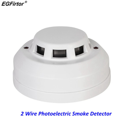 Fire Alarm Smoke Detector 2 Wire Network Photoelectric Fire Smoke Alarm DC24V Detector For Fire Alarm System With Current Output
