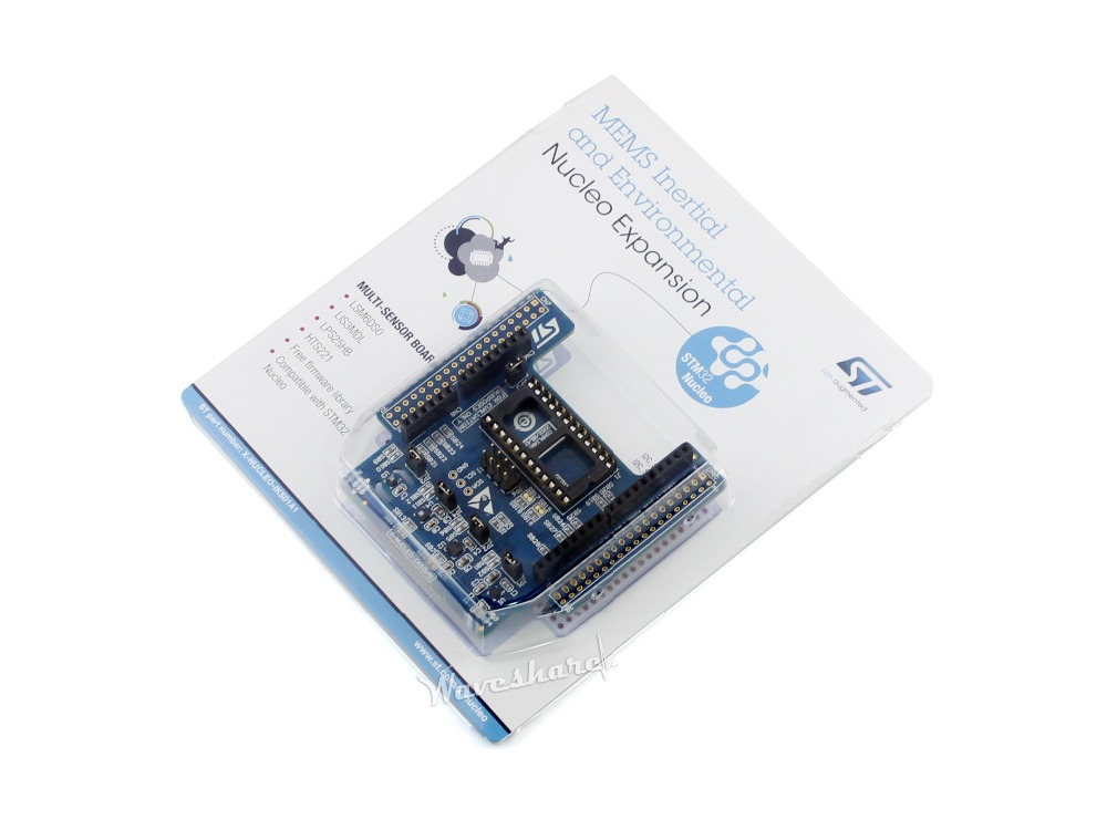Modules Original X-NUCLEO-IKS01A1, Motion MEMS and environmental sensor expansion board for STM32 Development Board Nucleo module stm32 x nucleo idb04a1 bluetooth low energy expansion board based on bluenrg for stm32 board nucleo