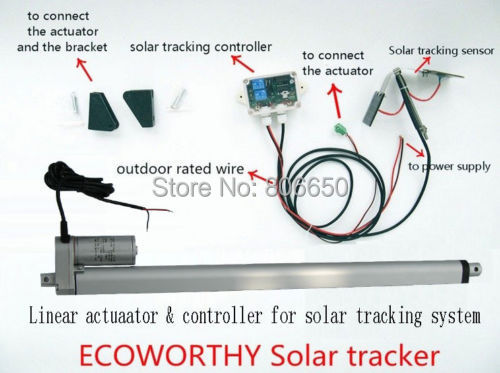 Sunlight Solar Tracker System 16'' Single Axis Kit for Solar System
