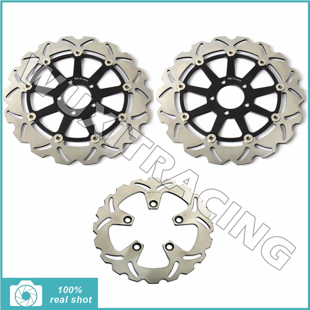 310MM+230MM Full Set Front Rear Brake Discs Rotors for KAWASAKI ZX7 ZX9 R RR NINJA 94-03 95 96 97 99 00 01 ZXR 750 J K L M 91-98 94 95 96 97 98 99 00 01 02 03 04 05 06 new 300mm front 280mm rear brake discs disks rotor fit for kawasaki gtr 1000 zg1000