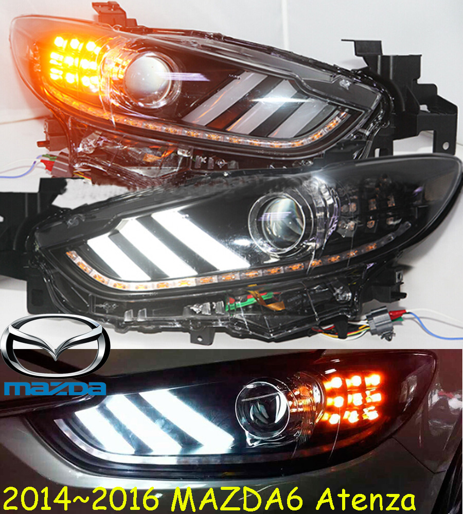2014~2016y car bumer head light for <font><b>Mazda</b></font> <font><b>6</b></font> mazda6 atenza <font><b>headlight</b></font> car accessories HID <font><b>xenon</b></font> fog for atenza mazda6 headlamp image