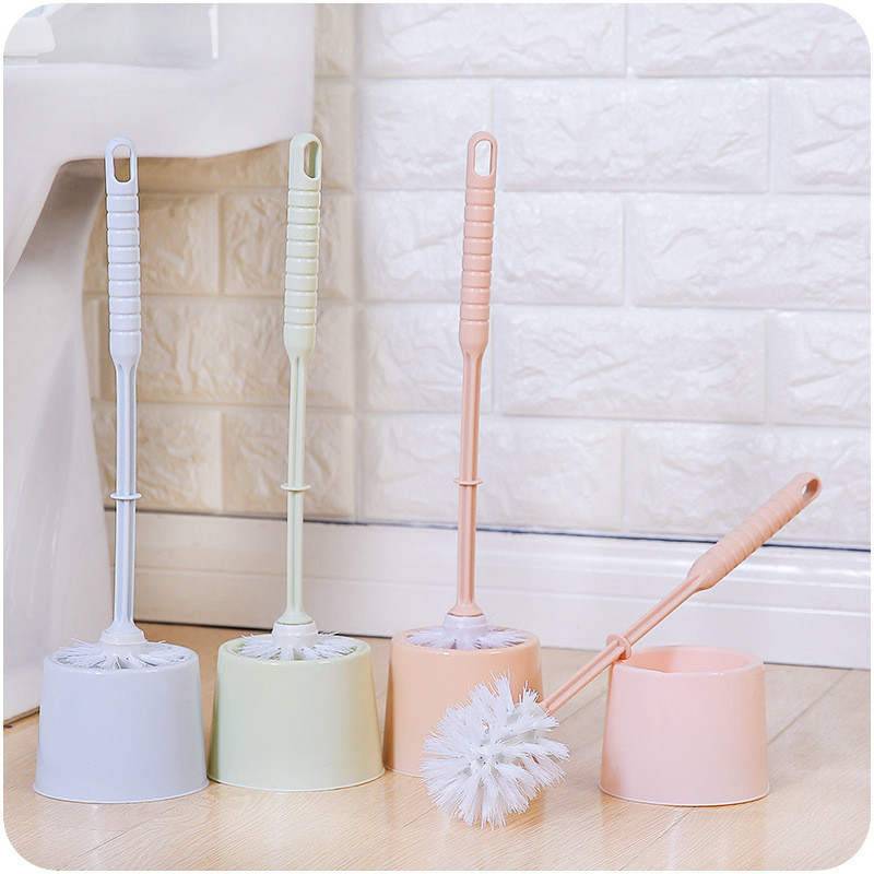 Toilet Brush Set with Base Creative Household Cleaning Tool Plastic Toilet Cleaning Scrub Home Hotel Bathroom Brush (9)