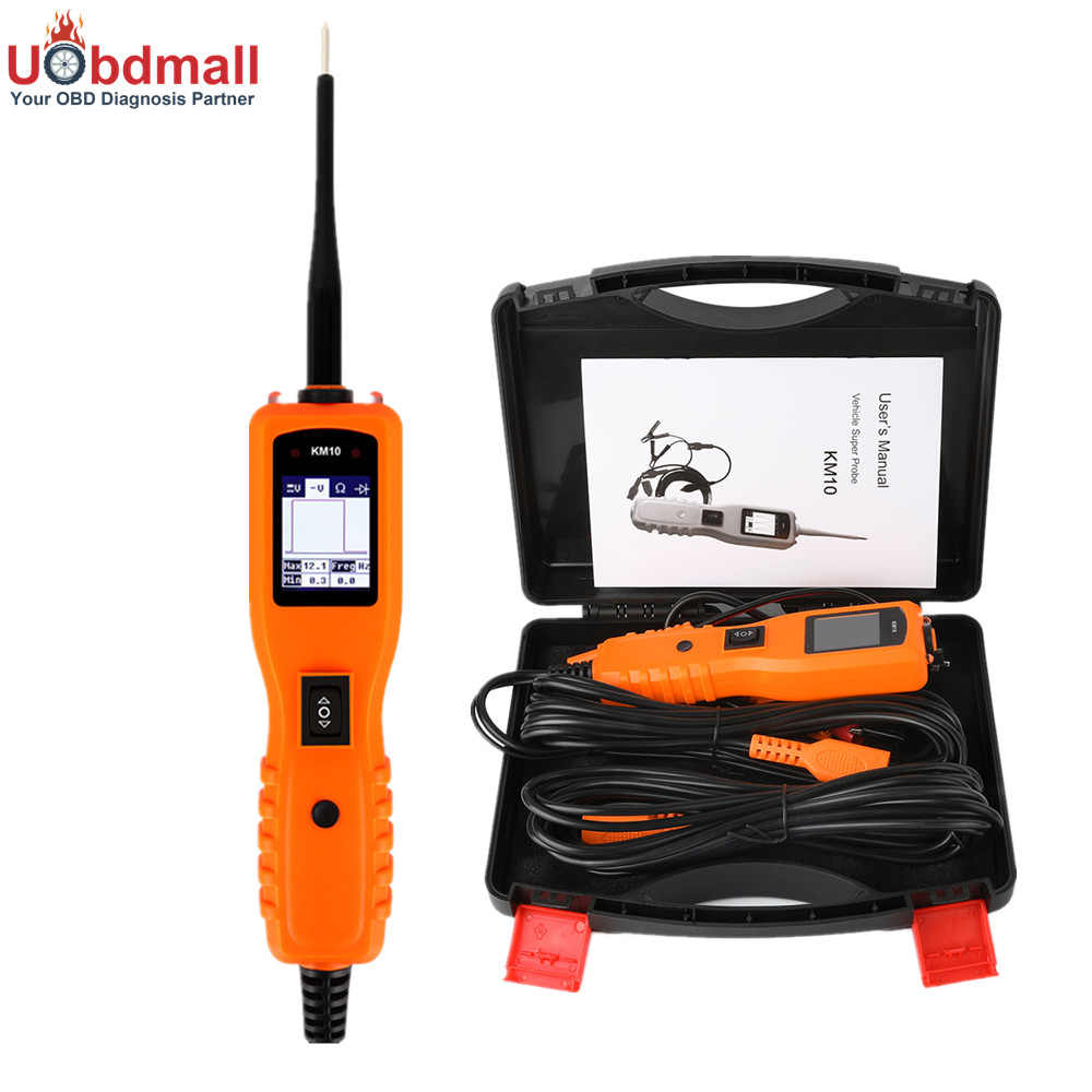 KM10 Car Powerscan Electric Circuit Tester Automotive Tools  KM10 Car Multimeter Circuit Diagnostic Tool PK YD208 VSP200 PS100 стоимость