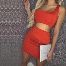 Russia Free shipping New European and American Single Shoulder Sexy Night Shop Buttock Dress 11 Colors shop russia
