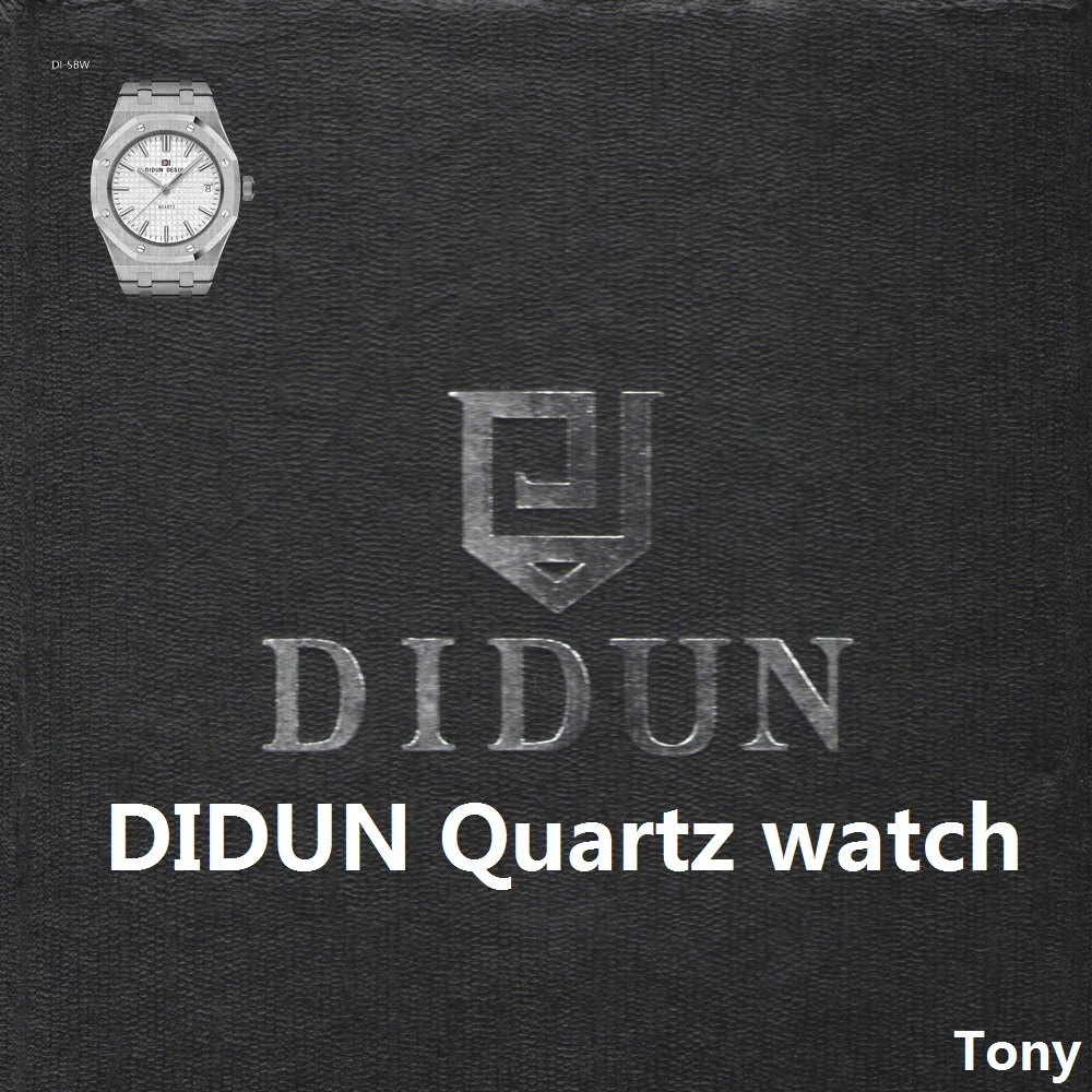 DIDUN Men Watches Top Brand Luxury Quartz Watch Gold Male Fashion Business Watch Leather Strap 30m Waterproof Wristwatch
