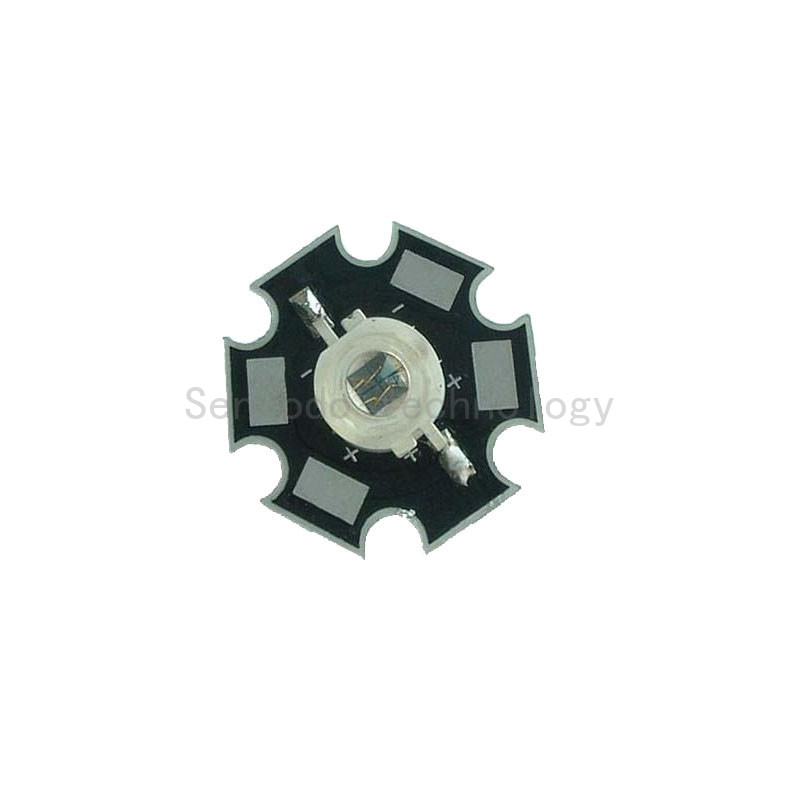 50X high power 5W 4chips <font><b>730nm</b></font> led light beads with 20mm aluminum heatsink free shipping image