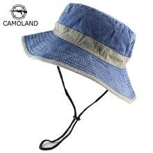 Bucket-Hats Uv-Protection Bob Panama Fishing-Washed Wide-Brim Men's Women Summer Outdoor