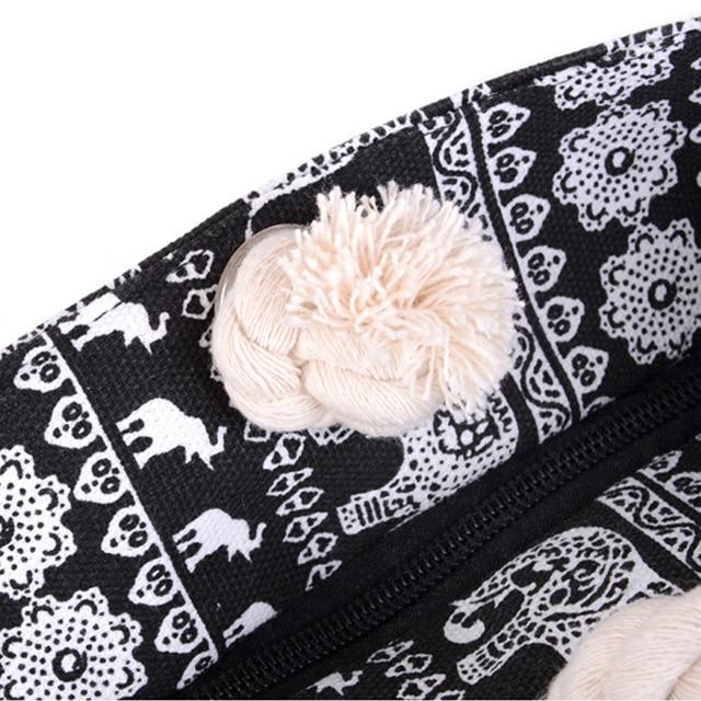 Women Canvas Beach Bag Fashion Color Stripes Printing Handbags Ladies Large Shoulder Bag Totes Casual Shopping Bags 4