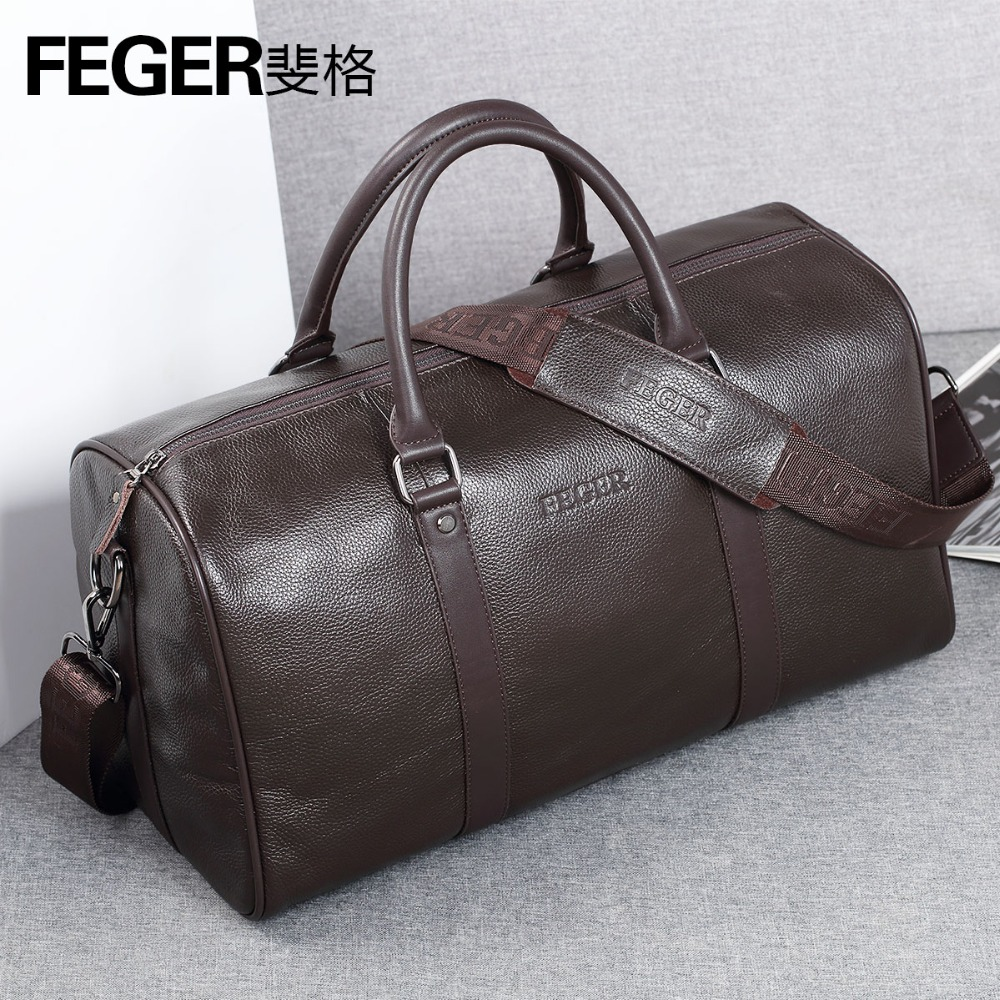 Detail Feedback Questions about Luxury Brand Designer Genuine Leather Men s  Travel Bags Business First Layer Cow Leather Travel Duffle for Gentlemen on  ... be265b30d5d63