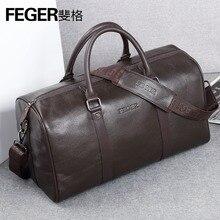 Купить с кэшбэком Luxury Brand Designer Genuine Leather Men's Travel Bags Business First Layer Cow Leather Travel Duffle for Gentlemen