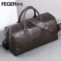 Luxury Brand Designer Genuine Leather Men's Travel Bags Business First Layer Cow Leather Travel Duffle for Gentlemen